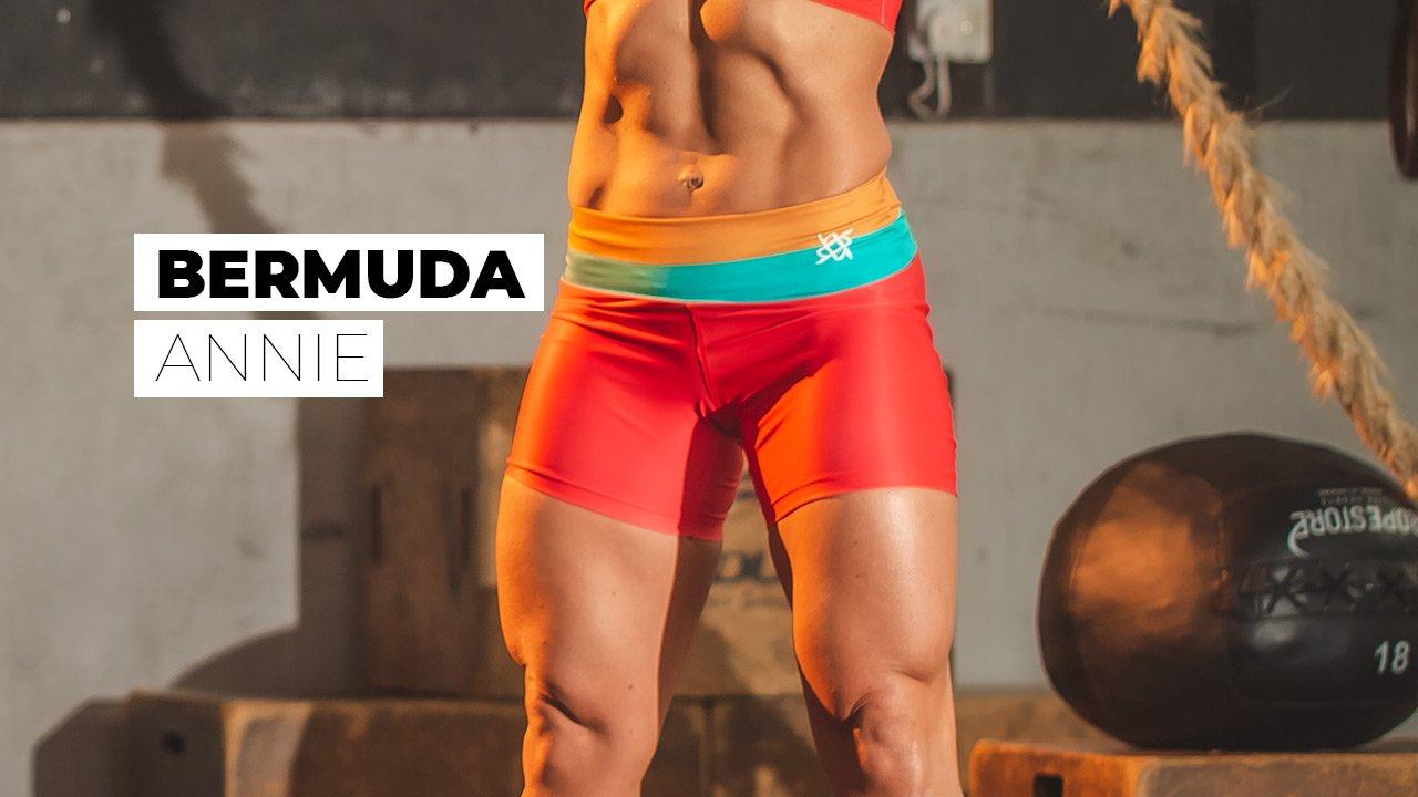 Bermuda Hupi Annie Verde/tangerine