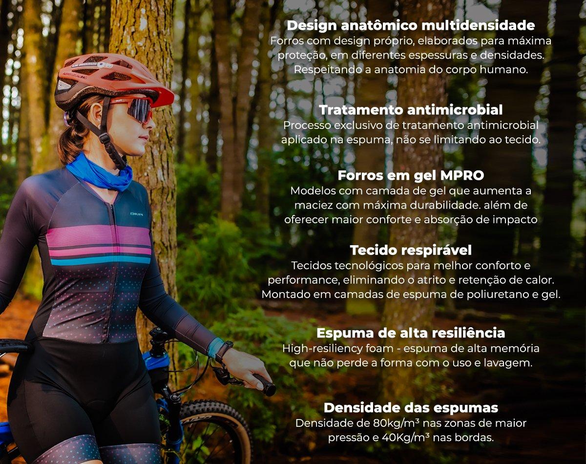Macaquinho Ciclismo HUPI Ametista Manga Curta