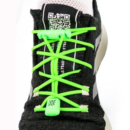 Cadarço Elástico HUPI LACES Verde Neon Liso