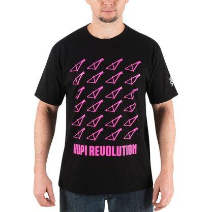 Camiseta Casual HUPI Revolution Rosa Pink