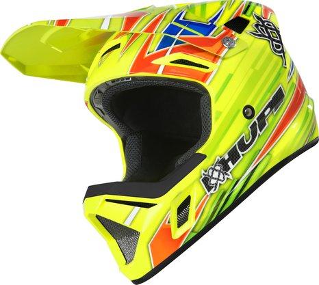 Capacete Hupi Dh-3 Amarelo Neon