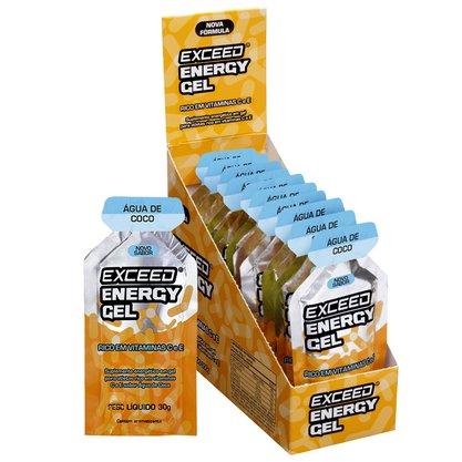 Exceed Energy Gel Sabor Água de Coco - Caixa C/ 10