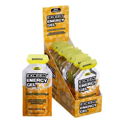 Exceed Energy Gel Sabor Banana - Caixa C/ 10
