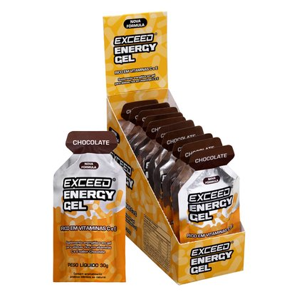 Exceed Energy Gel Sabor Chocolate - Caixa C/ 10