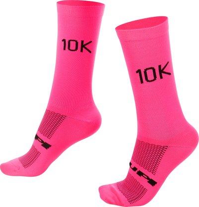 Meia para ciclismo corrida rosa 10K.