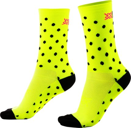 Meia HUPI Amarelo Neon Dots