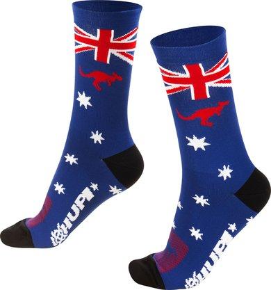 Meia para corrida ciclismo Ausie Azul Austrália.