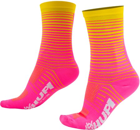 Meia HUPI Hyperline Rosa/Amarelo - LT para pés menores 34-38