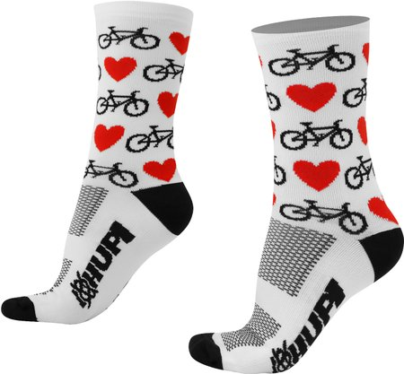 Meia HUPI Love Bike Branco