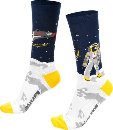 Meia para corrida ciclismo lunático astronauta meia canela.