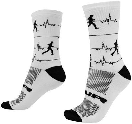 Meia HUPI Run Beats Branco - LT para pés menores 34-38