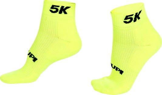 Meia Curta para Corrida HUPI - Running Pro 5K Amarelo Neon