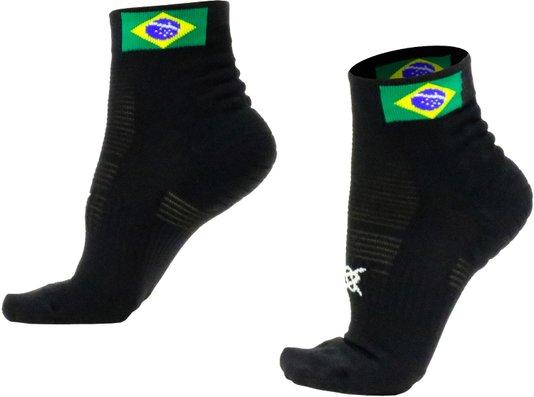 Meia Hupi Running Pro Brasil Preto