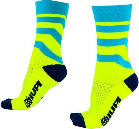 Meia Raya Azul/Amarelo HUPI - LT para pés menores 34-38