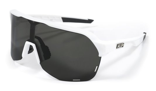 Óculos de Sol HUPI Huez Branco/Preto - Lente Preto