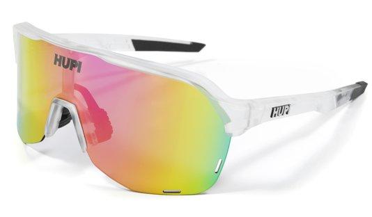 Óculos de Sol  HUPI Huez Cristal/Preto - Lente Rosa Espelhado