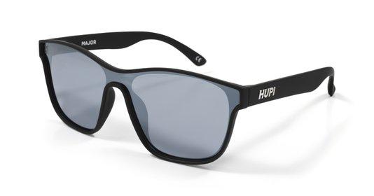 Óculos de Sol HUPI Major Preto - Lente Preto Espelhado