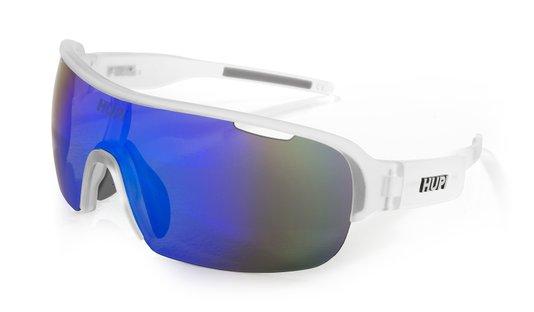 Óculos de Sol HUPI Pacer Cristal/Cinza - Lente Azul Espelhado