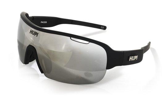 Óculos de Sol HUPI Pacer Preto - Lente Cinza Espelhado