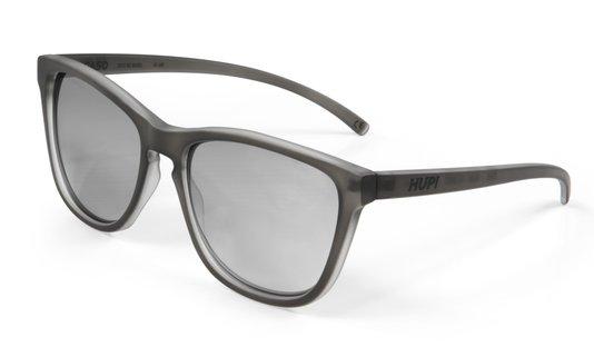 Óculos de Sol HUPI Paso Armação Cinza Claro Fosco Lente Prata