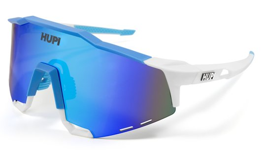 Óculos de Sol HUPI Stelvio Branco/Azul - Lente Azul Espelhado