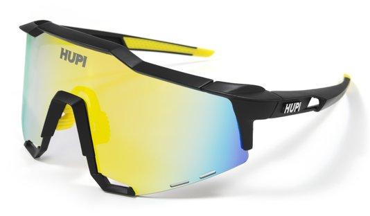 Óculos de Sol HUPI Stelvio Preto/Amarelo - Lente Amarelo Espelhado