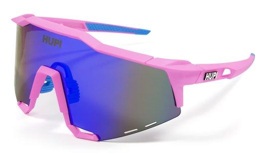 Óculos de Sol HUPI Stelvio Rosa/Azul - Lente Azul Espelhado