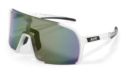 Óculos de Sol  HUPI Andez Cristal/Preto - Lente Roxo Espelhado
