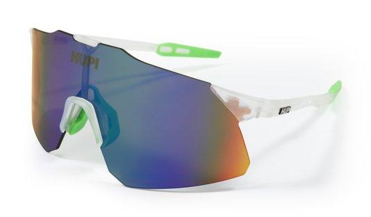 Óculos HUPI Angliru Cristal/Verde - Lente Verde Espelhado