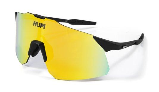 Óculos HUPI Angliru Preto - Lente Dourado Espelhado