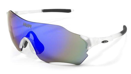 Oculos HUPI Fuego Cristal/Preto - Lente Azul Espelhado