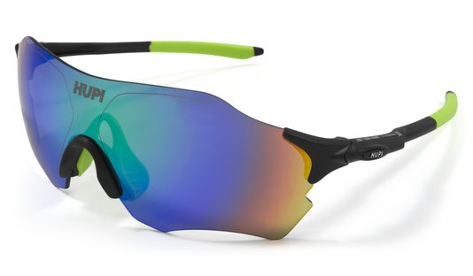 Oculos HUPI Fuego Preto/Verde - Lente Verde Espelhado