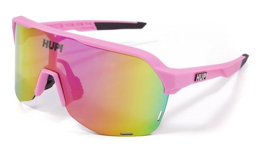 Óculos HUPI Huez Rosa/Preto - Lente Rosa Espelhado