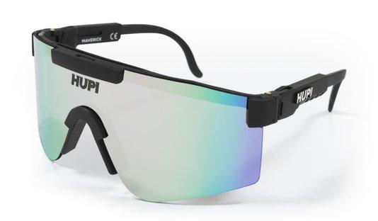 Oculos HUPI Maverick Preto - Lente Prata Espelhado
