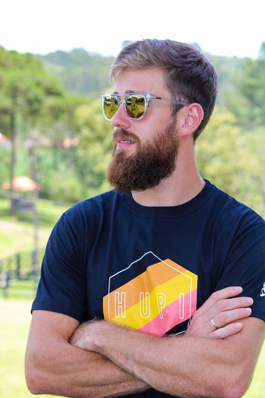 Óculos de Sol HUPI Bondi Cristal - Lente Dourada