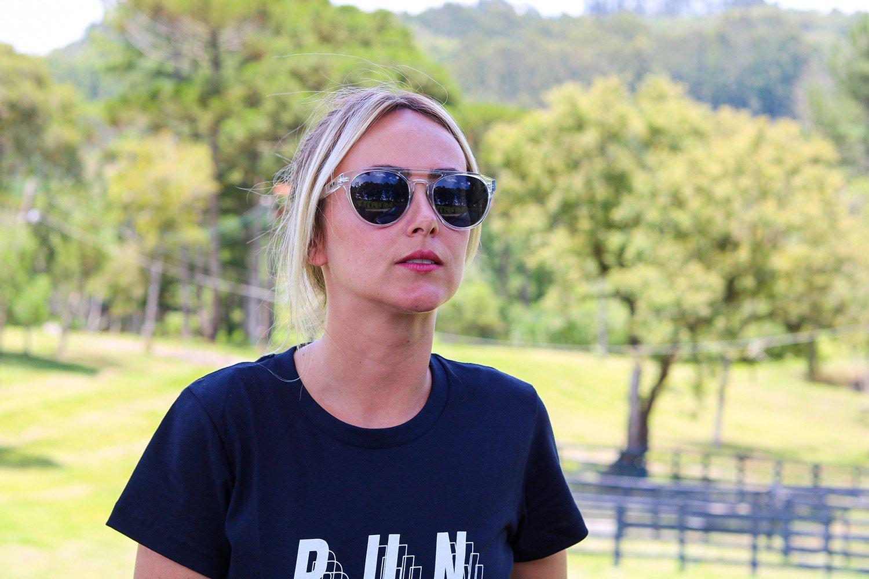 Óculos de Sol HUPI Furka Cristal Brilho - Lente Preto