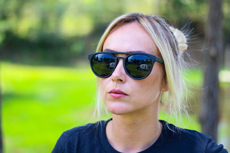 Óculos de Sol HUPI Furka Preto - Lente Verde Escuro