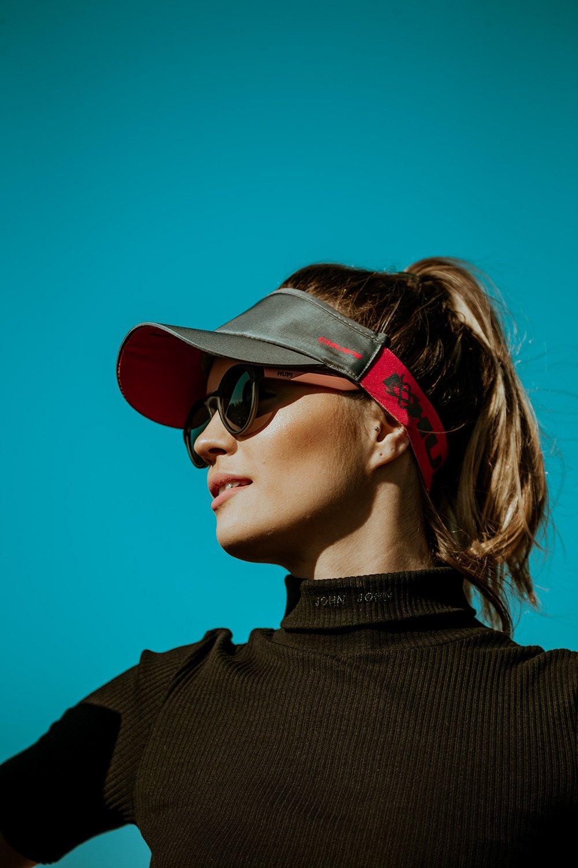 Óculos de Sol HUPI Kona Preto Fosco/CoralLente Cinza