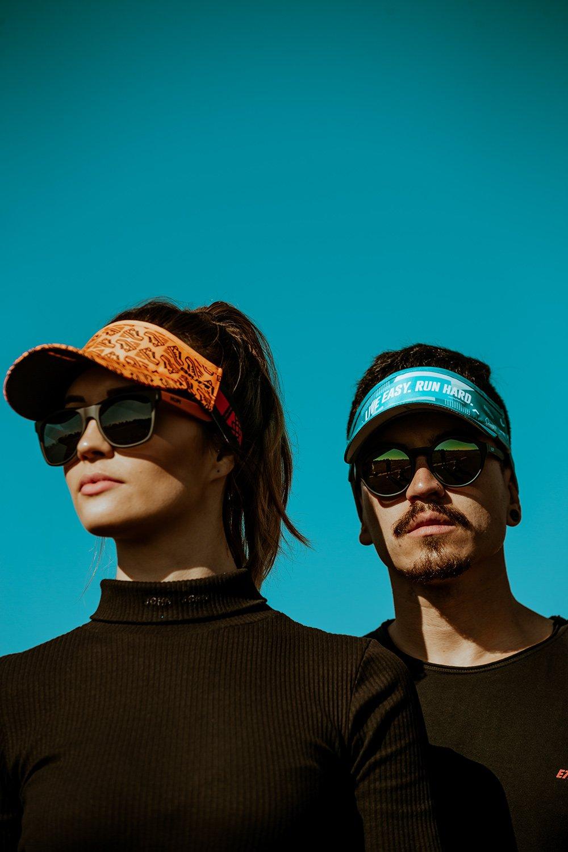 Óculos de Sol HUPI Luppa Preto/Laranja Lente Cinza