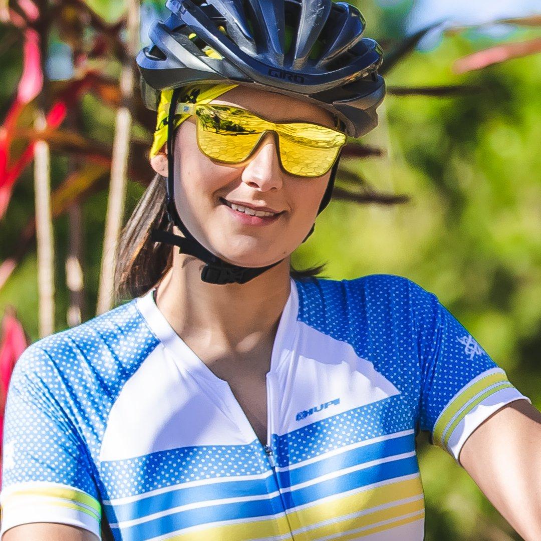 Óculos de Sol HUPI Major Amarelo - Lente Dourado Espelhado