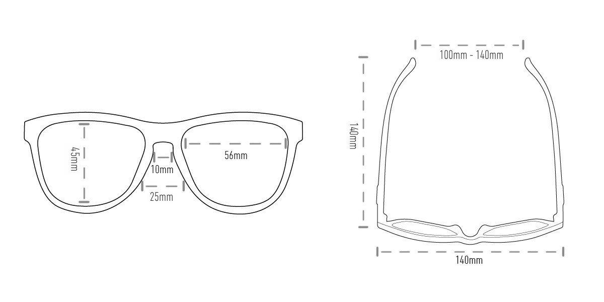 Óculos de Sol HUPI Major Preto - Lente Dourado Espelhado