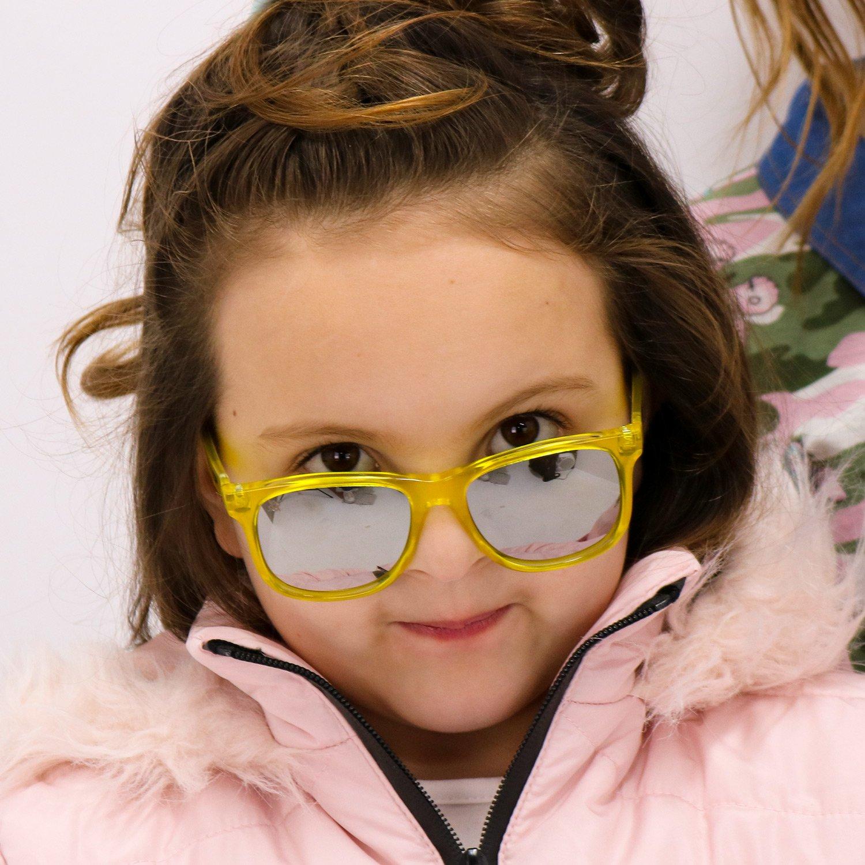 Óculos de Sol HUPI Naja Infantil Amarelo Cristal - Lente Espelhada
