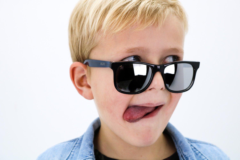 Óculos de Sol HUPI Naja Infantil PretoCristal/Azul Cristal- Lente Espelhada