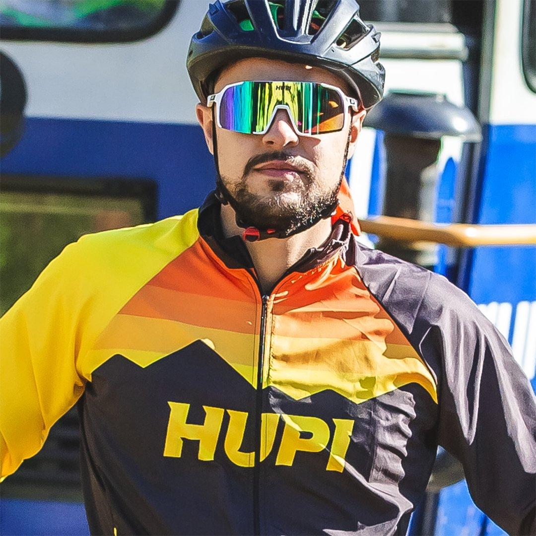 Óculos de Sol  HUPI Andez Branco/Amarelo - Lente Amarelo Espelhado