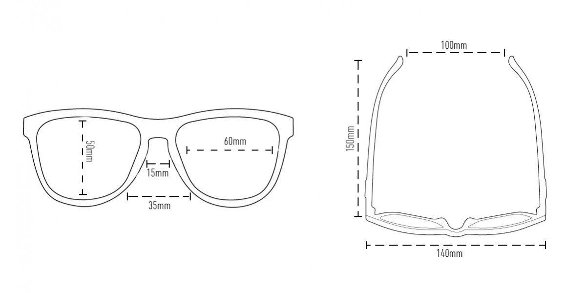 Óculos HUPI Charco Preto - Lente Preta