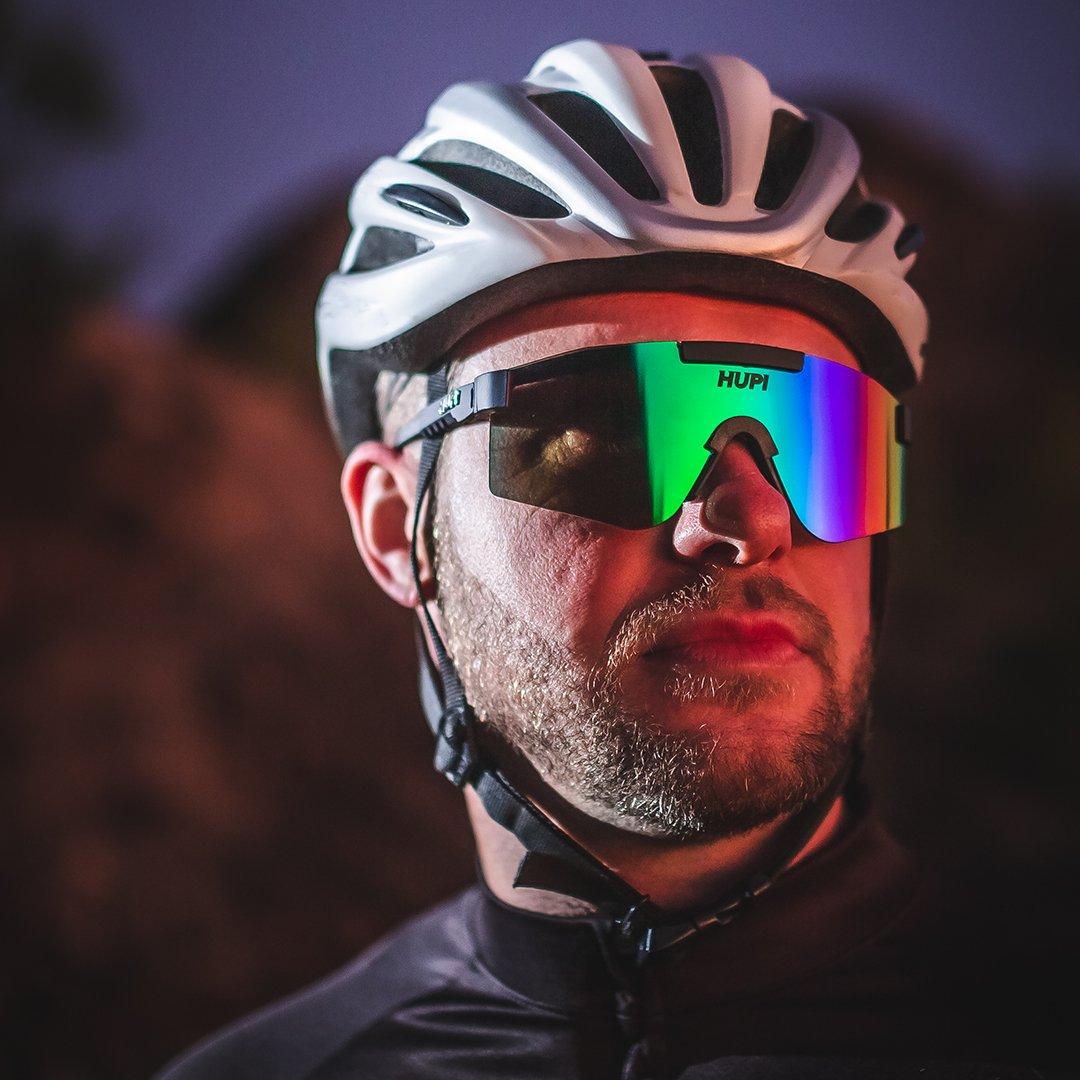 Óculos HUPI Maverick Preto - Lente Verde Espelhado