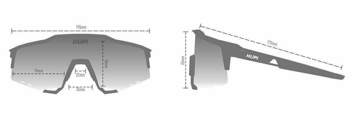 Óculos de Sol HUPI Stelvio Preto - Lente Fume