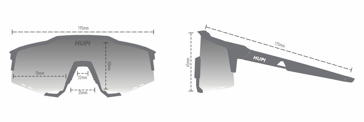Óculos de Sol HUPI Stelvio Vermelho/Preto - Lente Preto