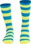 Meia HUPI Amarelo Neon e Azul